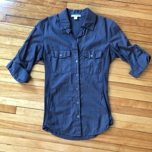 🆕James Perse charcoal gray button down shirt
